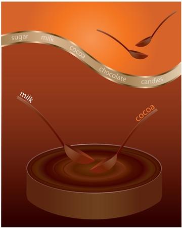 dripping chocolate: Chocolate splash Illustration