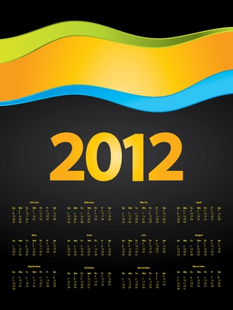 special calendar design for 2012 Stock Vector - 10421428