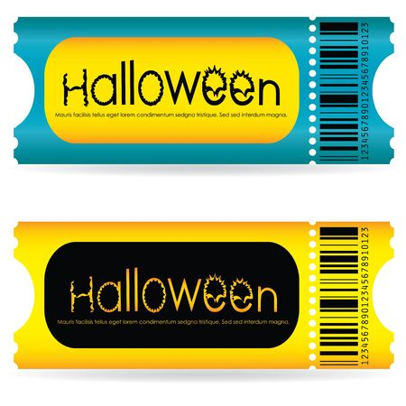 speciale tickets voor de Halloween Party Stock Illustratie