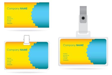 cardholder: name tag set in editable vector format Illustration
