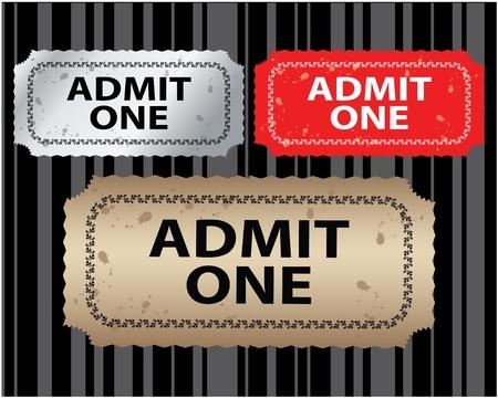 Ticket  Stock Vector - 10483627