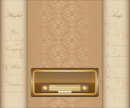 radio frequency: special vintage background