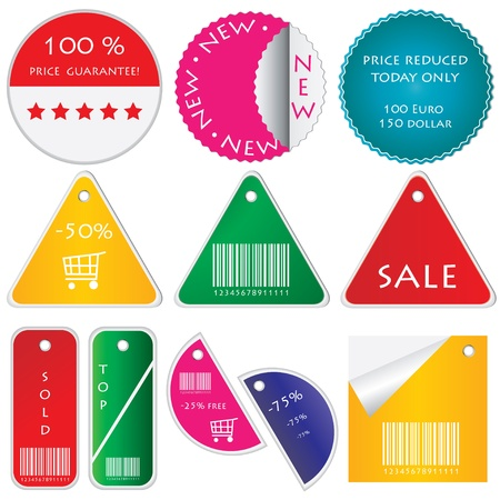 natal: set of tags Illustration