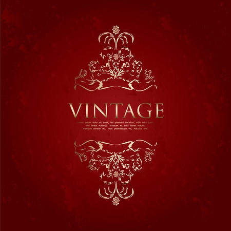 special vintage frame Stock Vector - 10719328