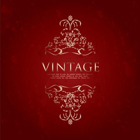 special vintage frame Stock Vector - 10719328