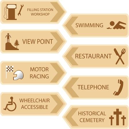 tourist information: tourist locations icon