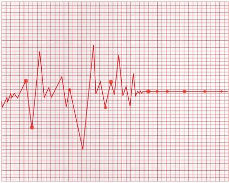 cardioid: Cardiograma coraz�n - vector Vectores