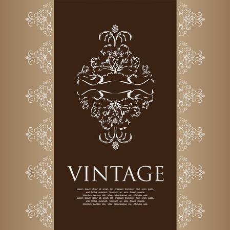 Floral vintage background Stock Vector - 10779814