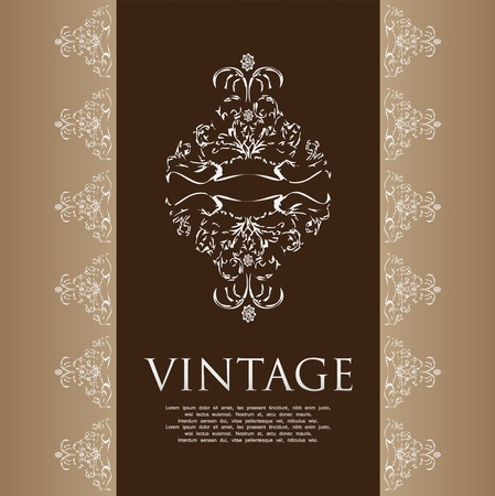 popular: Floral vintage background