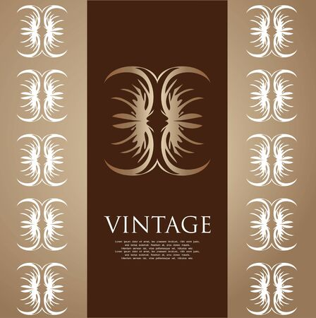 vintage cover Vector