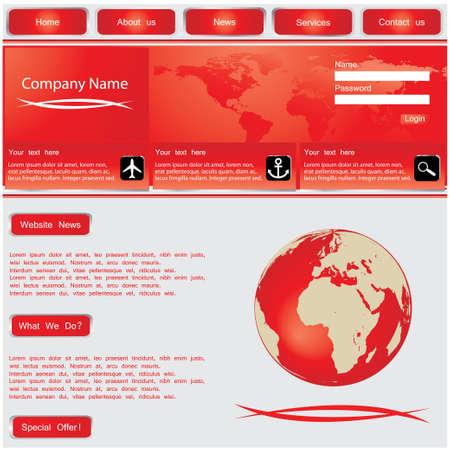 Website design template Stock Vector - 10779840