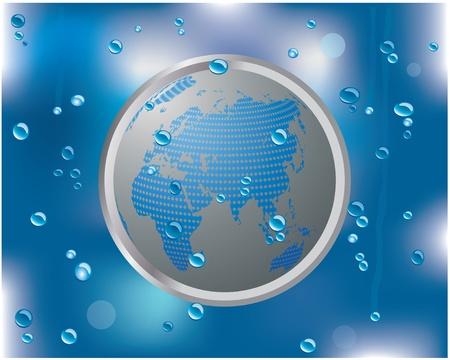 rain window: water drops on glass