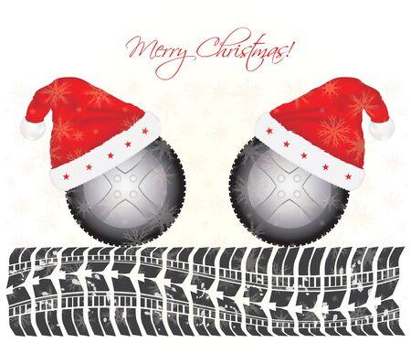 speciale Kerst achtergrond met het ontwerp van banden