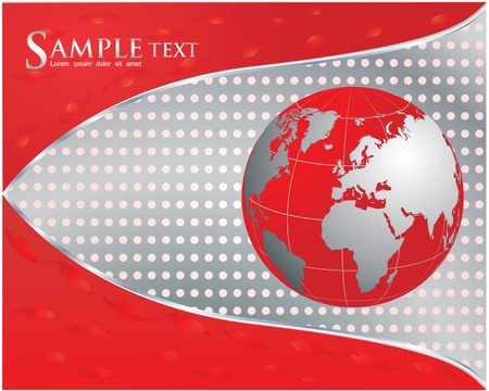 red business background  Vector