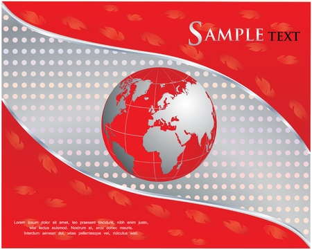 red business background  Stock Vector - 10927709