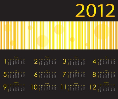 special calendar design for 2012 Stock Vector - 10964859