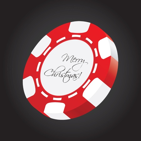 special poker chip  Vector