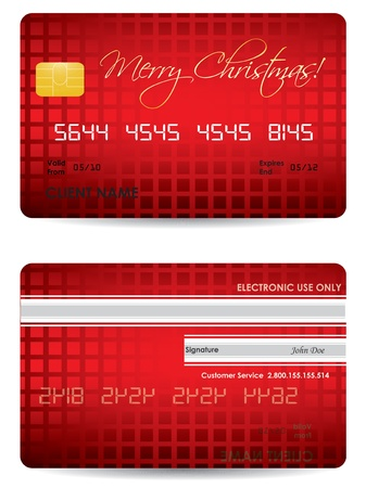 debit cards: special Christmas credit card design  Illustration