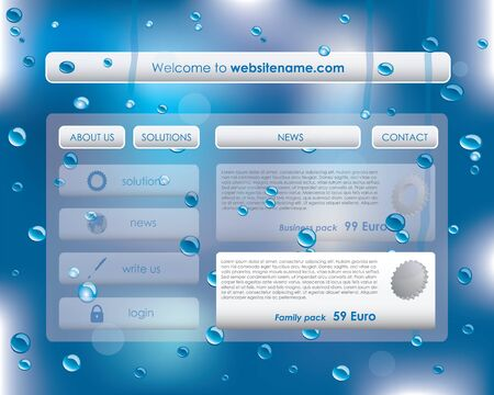 special website template Vector