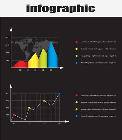 infographic graphs  Illustration