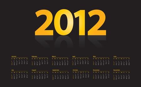 calendar design: special calendar design for 2012 Illustration
