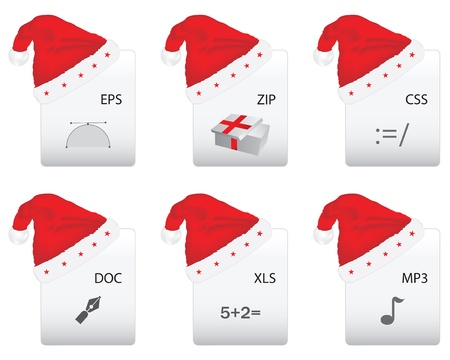 word processors: Web document icon with Christmas design