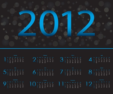 special calendar design 2012 Vector