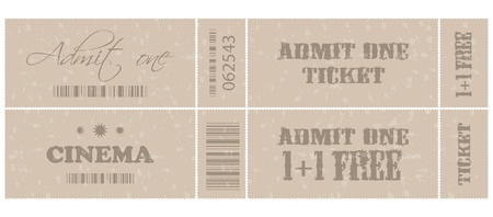 special old tickets Vector