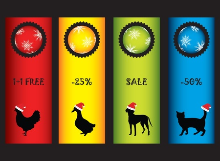special Christmas price tags Vector