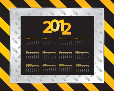 special Calendar Design - 2012 Stock Vector - 11213976