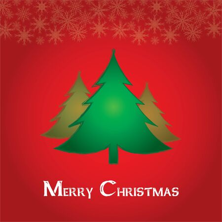Beautiful Christmas tree illustration. Christmas Card  Vector