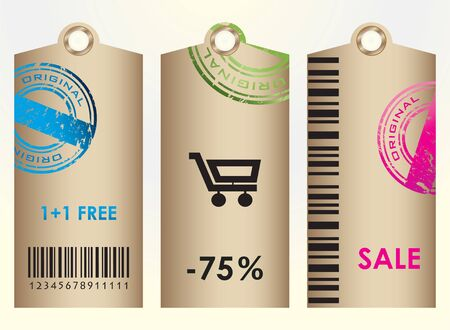 ean: Price tags. Vector