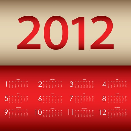 special calendar 2012 Stock Vector - 11301498