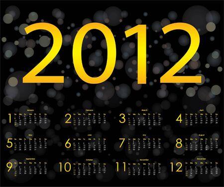 special calendar design 2012  Stock Vector - 11301501
