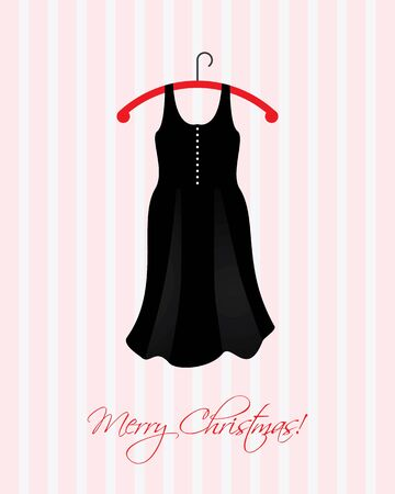 Christmas card with a special black dress Stock Vector - 11301504
