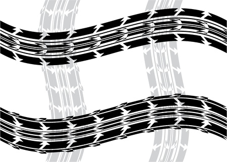 motorized: special tire background  Illustration