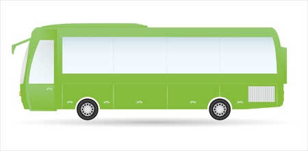 motor coach: special green city bus Illustration
