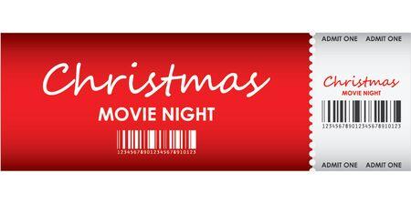 eventos especiales: billete especial de color rojo para la noche de pel�cula de Navidad