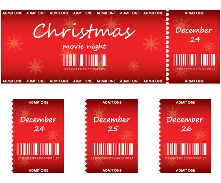 special red tickets for Christmas  Ilustracja