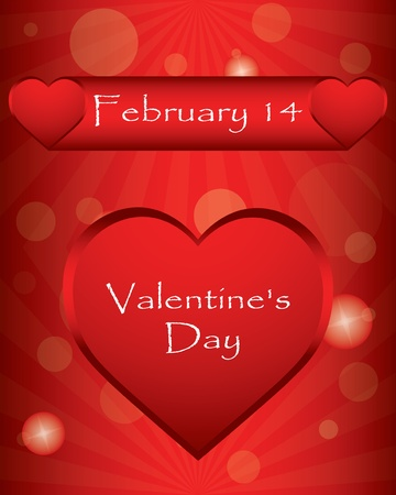 special Valentin`s Day background with hearts Vector