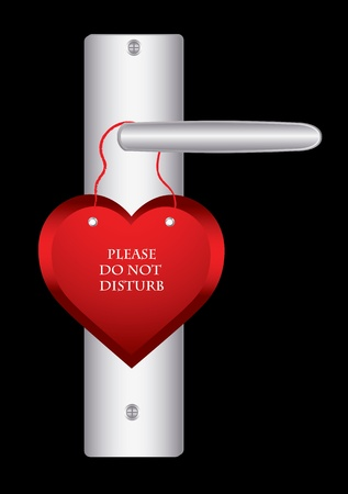 do not disturb sign: Valentine day door hanger
