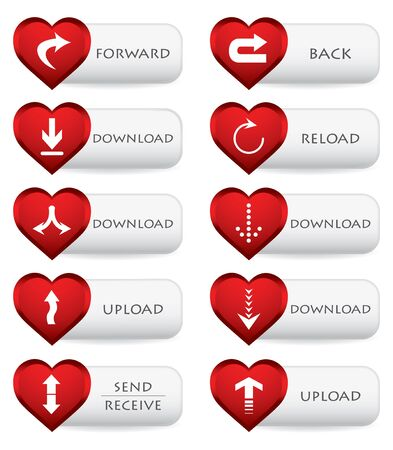 web download icon with valentine design Vector