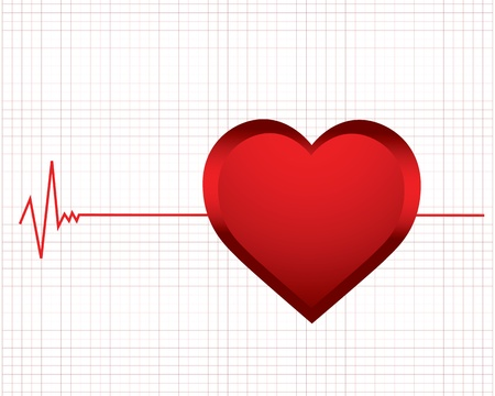 electrocardiogram: vector background with a monitor heartbeat