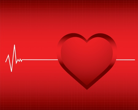 vector background with a monitor heartbeat Vector