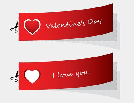 special labels for Valentine's day Vector