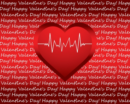 special Valentines day background with heart Vector
