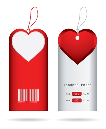special price tags with Valentines Day design Vector