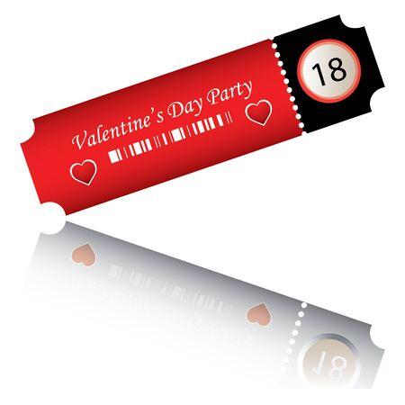 valentines day party Illustration