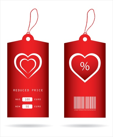 fashion collection: special price tags with Valentine
