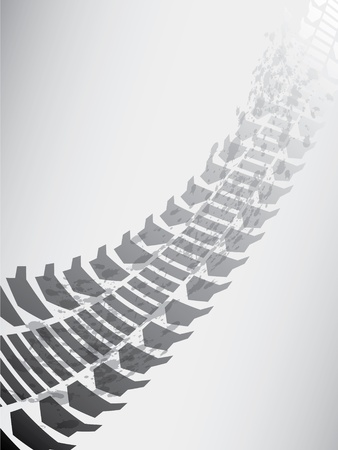 trail bike: Special tire track Illustration